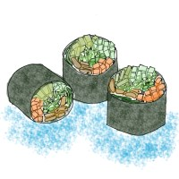 Simply Nori-shing Vegetable Rolls (Virtual Vegan Potluck)