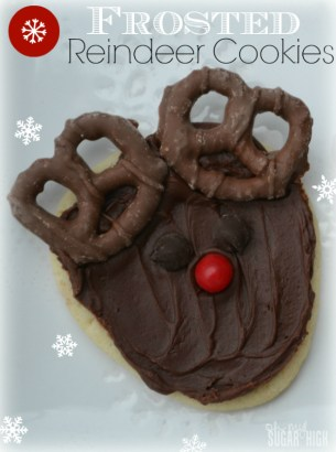 Frosted Reindeer Holiday Sugar Cookies - Copy