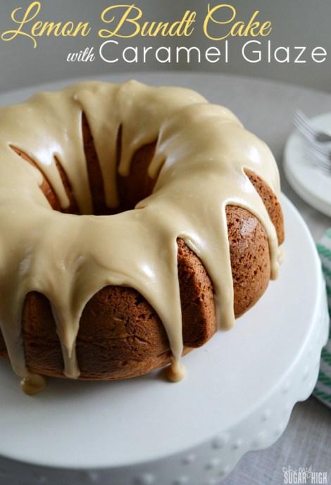 Lemon Bundt Cake with Caramel Glaze