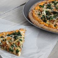 Sweet Potato Pizza with Kale and Caramelized Onions Slice