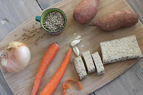 Vegetarian Irish Stew Ingredients