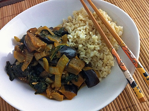 Thai Red Curry Eggplant