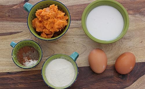 Crustless Cardamom Sweet Potato Pie Ingredients