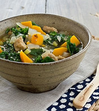 Seitan Kale and Butternut Squash Stew