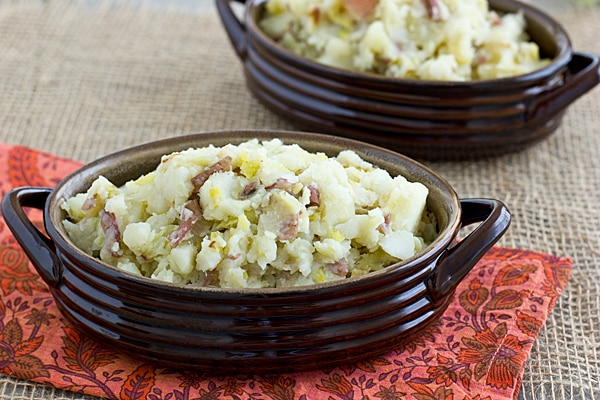 Smashed Red Potatoes & Leeks