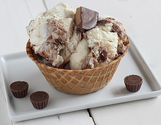 Fat Elvis Ice Cream with Peanut Butter Cups