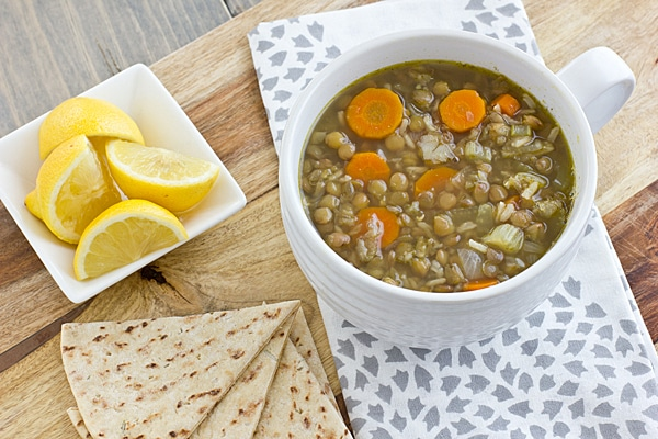 Middle Eastern Lentil & Rice Soup