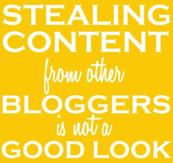 Stealing Content From Other Bloggers Is Not A Good Look