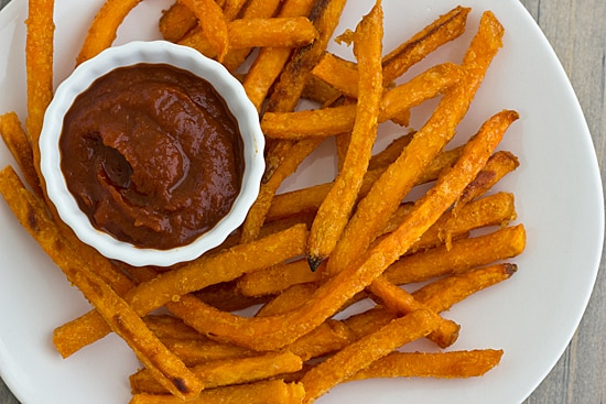 Balsamic Ketchup with Sweet Potato Fries