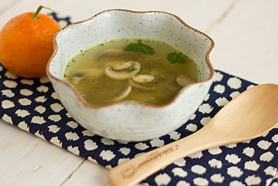 Mushroom and Tofu Soup