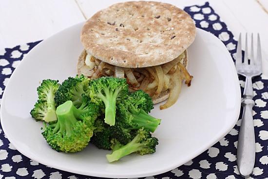 Sesame Ginger Broccoli and Veggie Burger