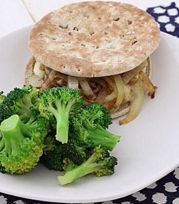 Sesame Ginger Broccoli and Burger