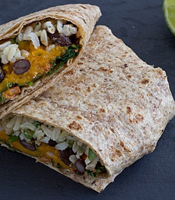 Sweet Potato and Kale Wraps
