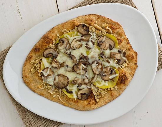 Wild Mushroom & Potato Pizza with Walnut Pesto