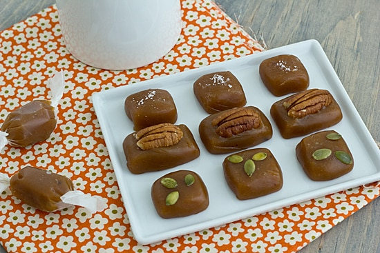 Spiced Sweet Potato Caramels with Toppings