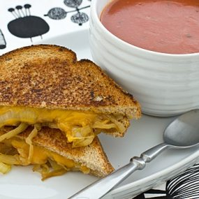 Drunken Grilled Cheese with Soup