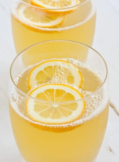 Lightly Sweetened Sparkling Meyer Lemonade