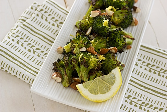 Roasted Broccoli with Lemon & Almonds