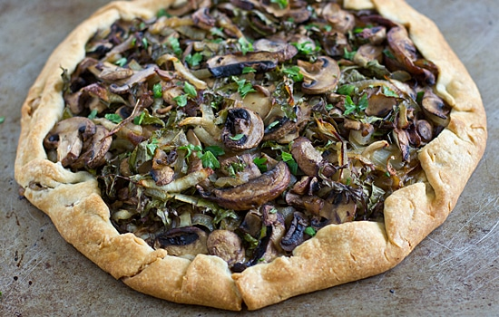 Kale Galette with Wild Mushrooms