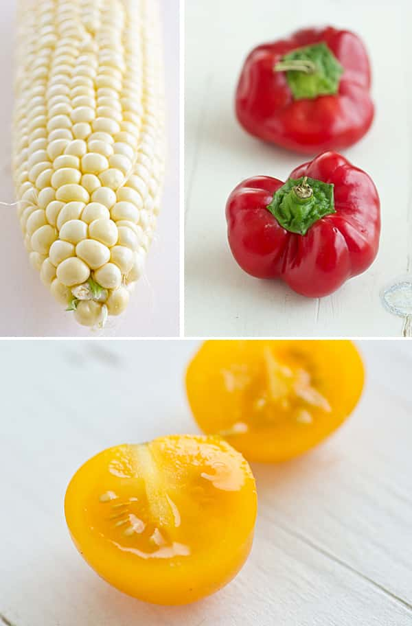 Corn, Peppers & Tomato [Taken with Tamron Macro Lens]