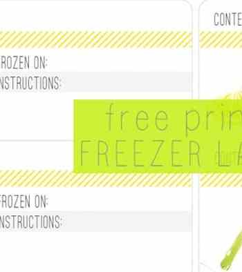 Free Printable Freezer Labels