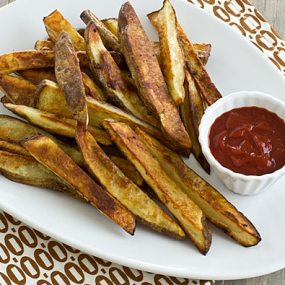 Garlicky Oven Fries with Harissa Ketchup Recipe