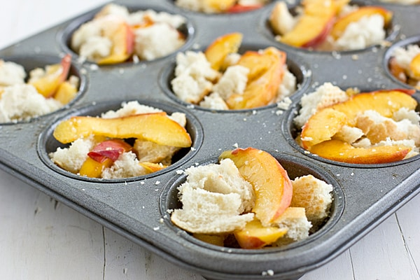 Peaches & Bread in Cups