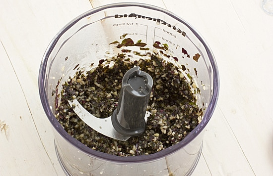 Pesto in Kitchenaid Hand Blender Chopper