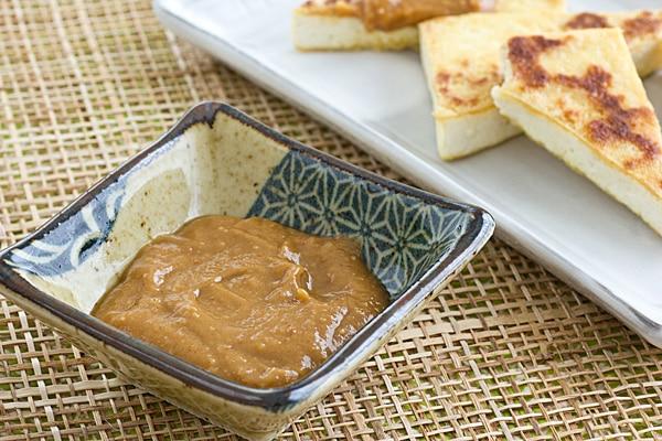 Tofu with Peanut Ginger Sauce