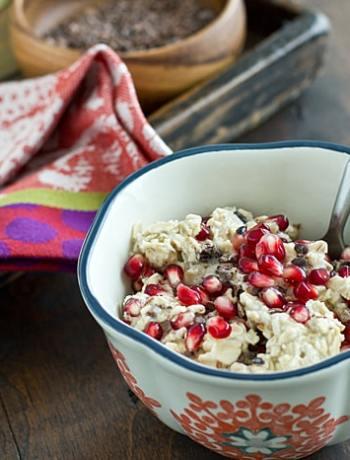 Cocoa Nib & Pomegranate Overnight Oats
