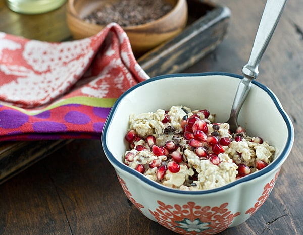 Cocoa Nib & Pomegranate Overnight Oats
