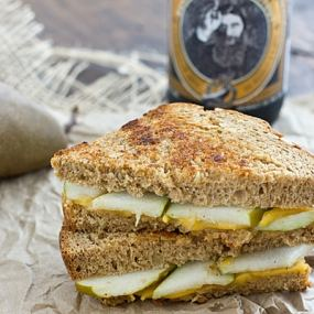 Pear and Sharp Cheddar Grilled Cheese Sandwich Recipe