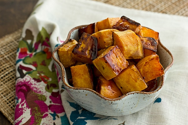Apple Cider Glazed Sweet Potatoes