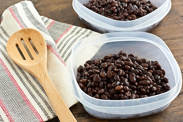 Beans in Tupperware Containers