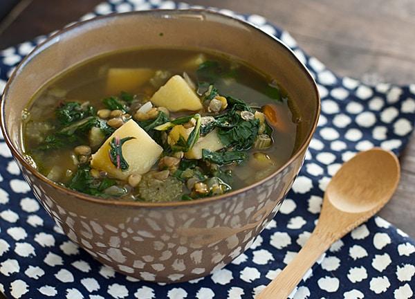 Chard, Lentil & Potato Slow Cooker Soup Recipe