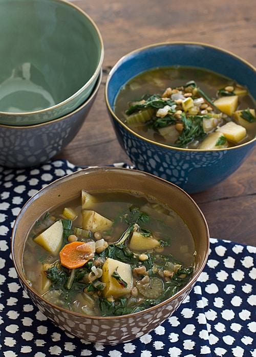 Chard, Lentil & Potato Slow Cooker Soup