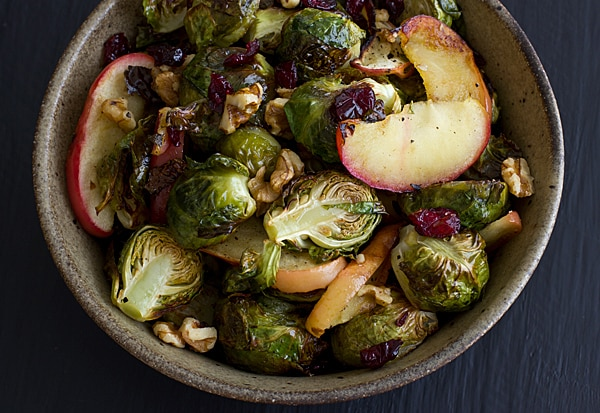 Vegan and Vegetarian Roasted Brussels Sprouts and Apples Recipe