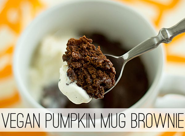 Vegan Pumpkin Mug Brownie