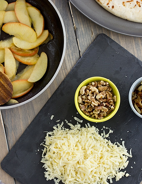 Apple Cheddar Pizza with Caramelized Onions & Walnuts Ingredients