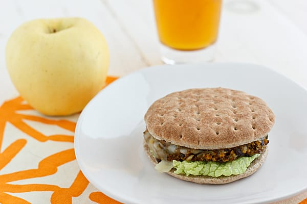 Black Bean & Winter Squash Veggie Burger