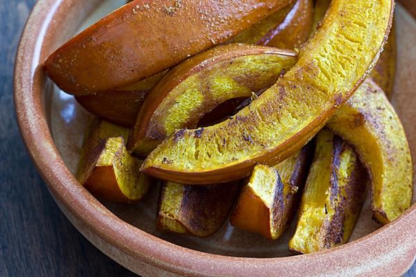 Curried Pumpkin Wedges
