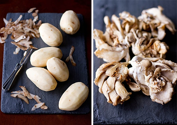 Potatoes & Oyster Mushrooms
