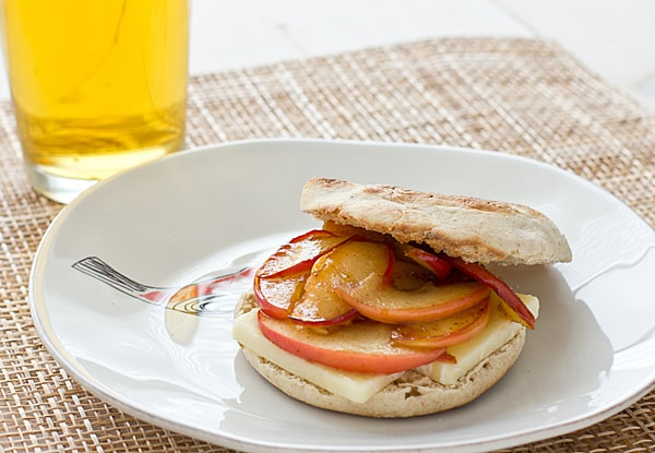 Apple Cheddar English Muffin Sandwich