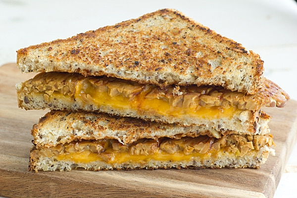 BBQ Tempeh Bacon Grilled Cheese