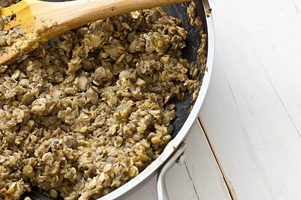 Lentil Mushroom Meatball Mixture