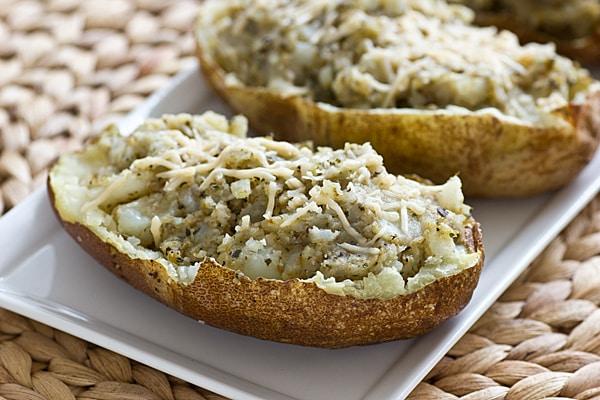 Pesto Twice-Baked Potatoes
