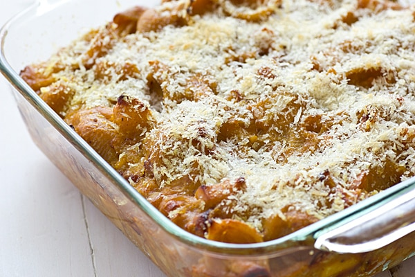 Pumpkin Mac & Cheese with Apples & Caramelized Onions