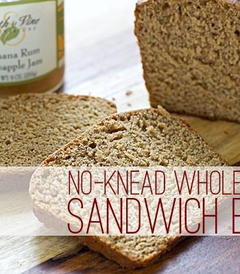 Super Easy No-Knead Whole Wheat Sandwich Bread