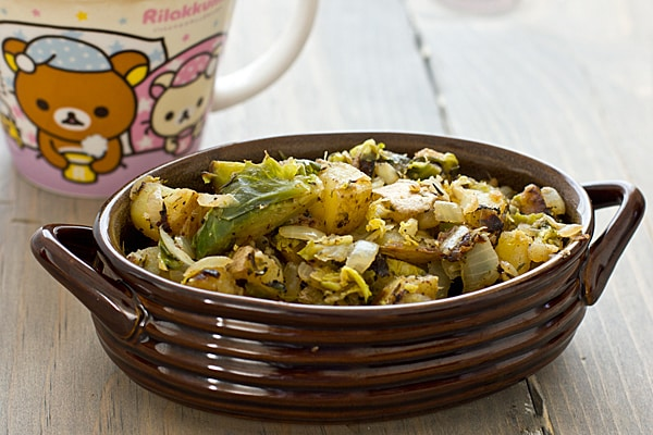 Brussels Sprout-Potato Hash
