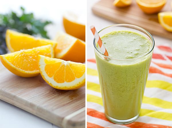 Green Orange Dreamsicle Smoothie Vitamix Turboblend Vs